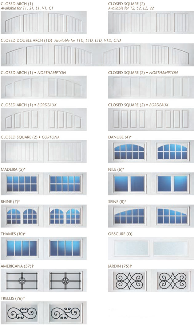 Windows and top sections for the Amarr Classica Collection