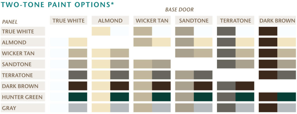 Options for two-tone paint on the Amarr Classica Collection
