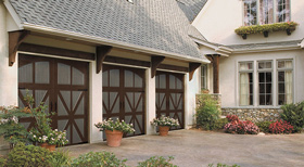 Two-tone garage doors in Winnetka, IL